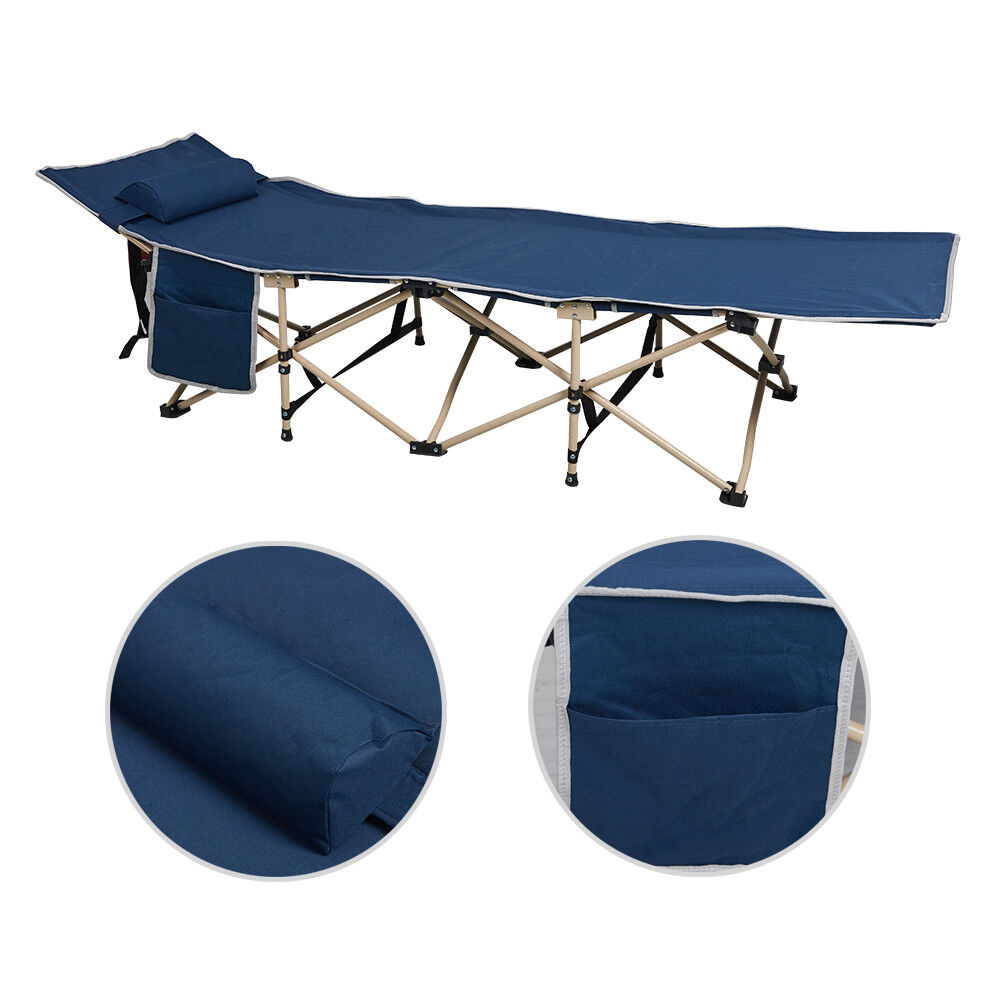 Folding Camping Bed Outdoor Portable Military Cot Sleeping H
