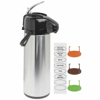 Airpot Coffee Server Thermal Coffee Di3l Stainless Steel Glass-lined Lever Lid