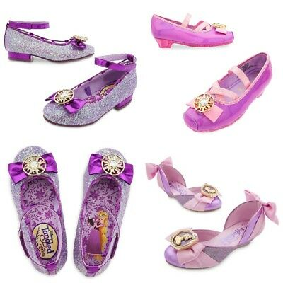 Disney Tangled Shoes (Disney Store Rapunzel Costume Sparkle Shoes Dress Up Tangled Glitter Bow)