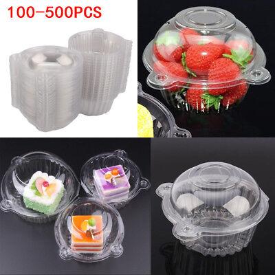 Plastic Cupcake Cake Case Muffin Pod Dome Holder Box Dessert Container - Cupcake Container