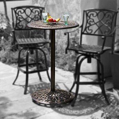 Outdoor Patio Furniture Paris Cast Aluminum Bar Height Bistro Table