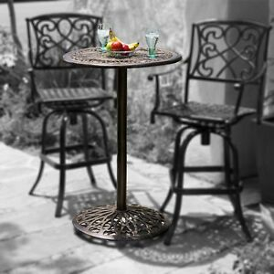 outdoor patio furniture paris cast aluminum bar height