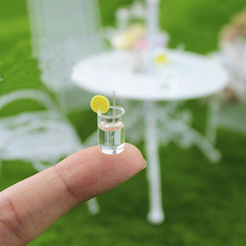 Купить 4PCS Dollhouse Miniature Bottled Lemon Water Jam 1/6 1/12 Scale Model Home Decor