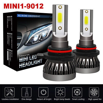 Bright Beam - 9012 200W 30000LM LED Headlight Kit High Low Beam Bulb Super Bright 6000K 2Pcs