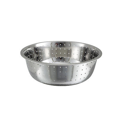 Winco Ccod-15l 15-inch Stainless Steel Chinese Colander With 5 Mm Holes