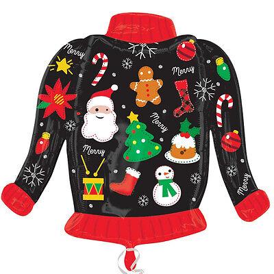 Hässlich Weihnachten Pullover Form Ballon Folie Party Dekoration (Hässlich Weihnachten Pullover Dekorationen)
