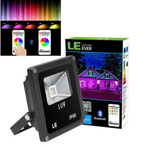 10W LED Flood Light Outdoor Landscape Lamp Spotlight Smart Bluetooth App  Control