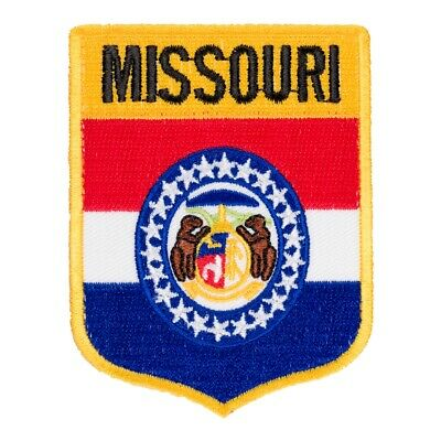 Missouri State Flag Shield Patch, United States of America Patches