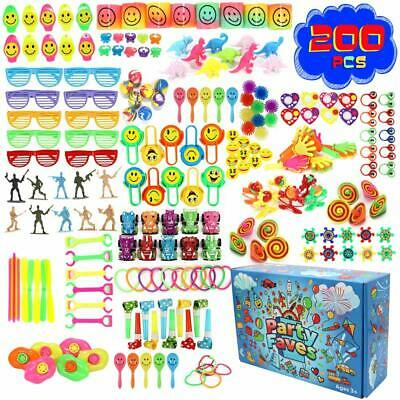 Party Bags For Kids (200PC Party Favors for Kids Goodie Bags Piñata Filler Carnival Prizes for Kids)
