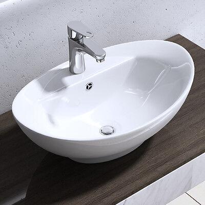 Design Keramik Waschschale Aufsatz Waschbecken Waschtisch Waschplatz Brüssel302