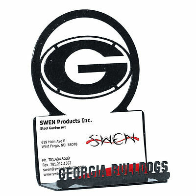 Swen Products Georgia Bulldogs Metal Business Card Holder