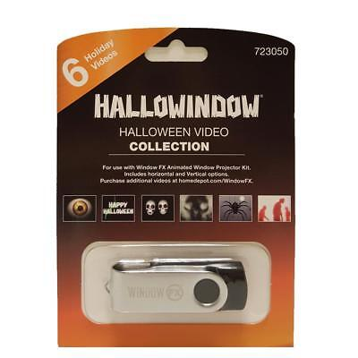 Hallowindow Mark Gervais Halloween Collection USB 6 Videos Digital Effects NEW