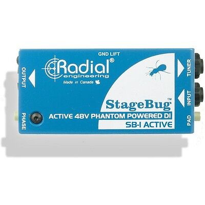 Radial Engineering StageBug SB-1 Active Acoustic Guitar DI Compact Direct Box