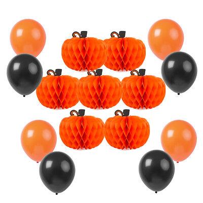 Halloween Balloons Set Party Supplies Decorations Pumpkin Honeycomb - Halloween Party Supplies