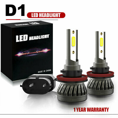 H11 H8 H9 LED Headlight Bulbs Kit High/Low Beam Bright 6500K Upgrade Xenon