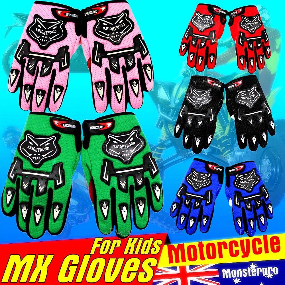 Motorbike Motorcycle Full Finger Gloves Motocross Biker BMX MTB XC DH ATV Quad