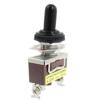 Ac 250v 15a Onoffon Momentary Spdt Toggle Switch With Waterproof Boot New