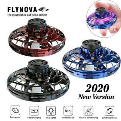 Flynova Flying Spinner Stress Release Mini Drone UFO Hand Control Flying Toys US