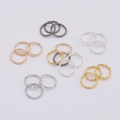 50/100pcs 8-20mm Jump Rings Twisted Open Split Ring Connector For Jewelry Making