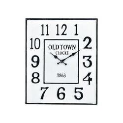Old Town Clocks 1863 With Numerical Numbering Square Wall Clock in Colonial