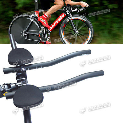 Bike Bicycle Alloy Triathlon Aero Rest Handle Bar Handlebar Clip On Tri Bars
