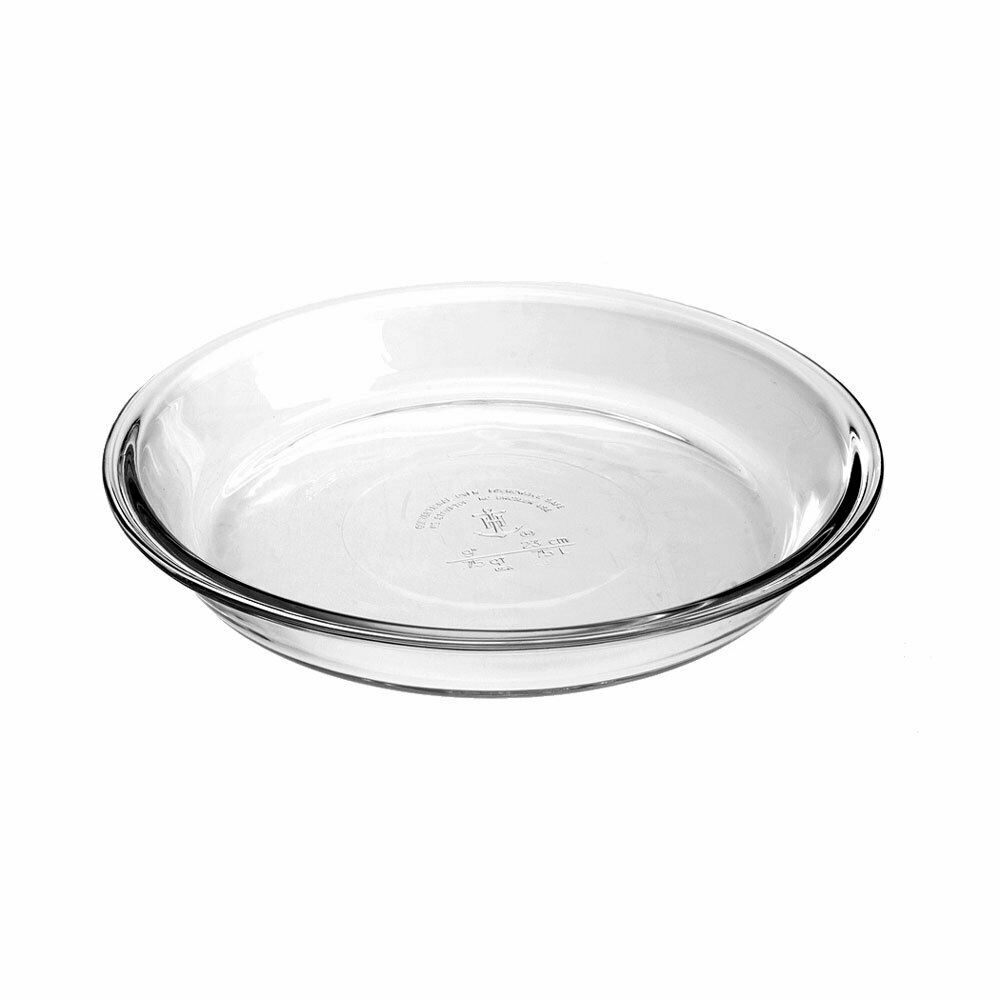 "Anchor Hocking Oven Basics Pie Dish, 9"" / 23 cm, Clear Tempe"