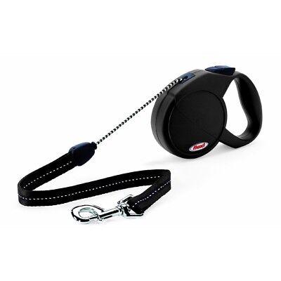 2 Retractable Cord Leash - Flexi Classic 2 Medium 5 Mètres Cordon Noir x 1 - Cord Lead Dog Retractable New
