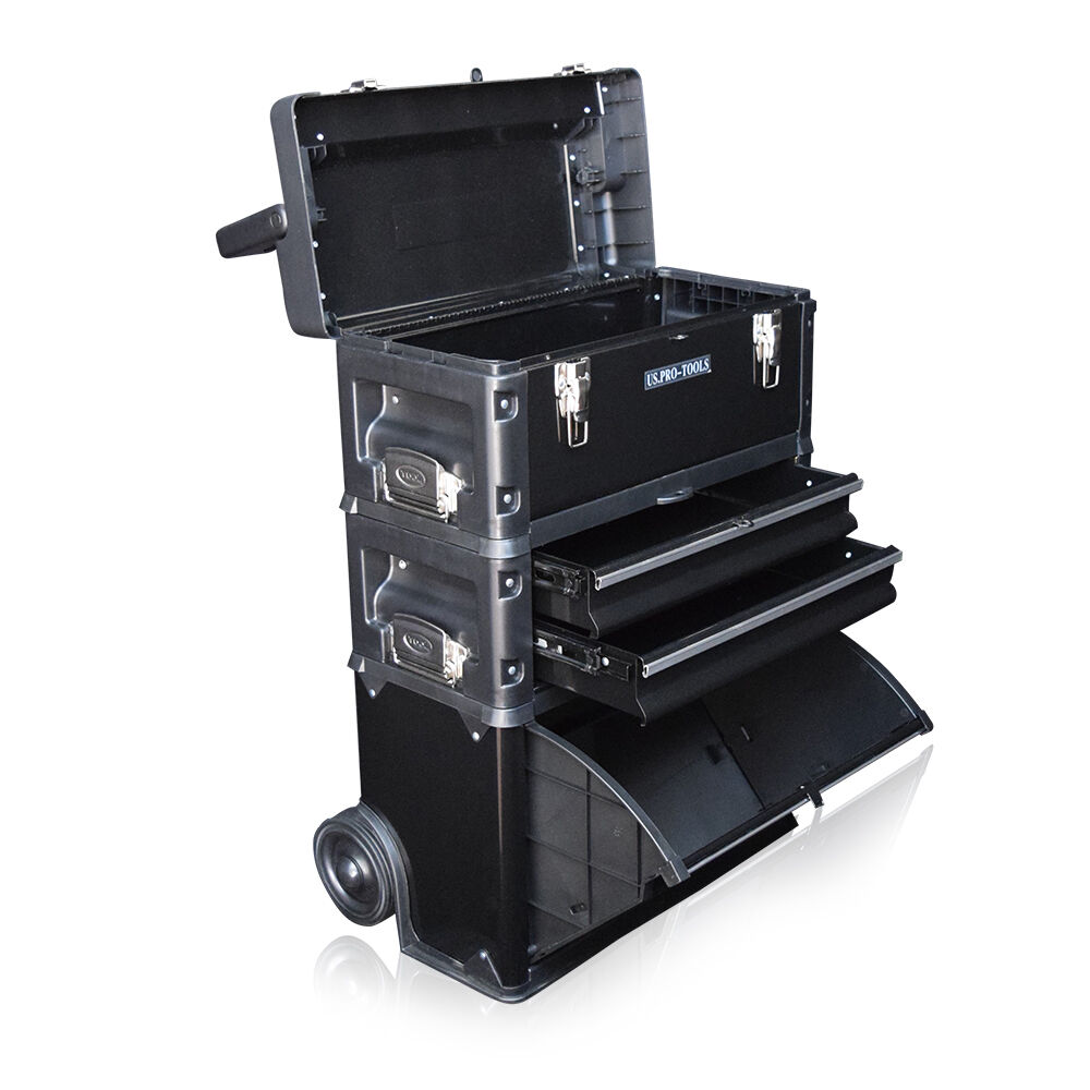 317 Us Pro Tools Black Mobile Rolling Chest Trolley Cart