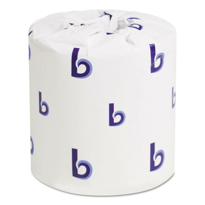 Boardwalk 6155 96 Rolls/Carton 4-1/2 x 4-1/2 in. 2-Ply Toilet Tissue - White New