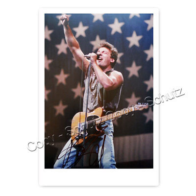 Bruce Springsteen - Autogrammfotokarte laminiert