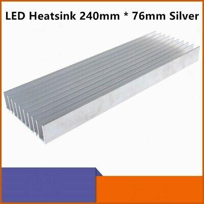 Aluminum Heat Sink Heatsink Module Cooler Fin 240mm x 76mm Silver Led Amplifier