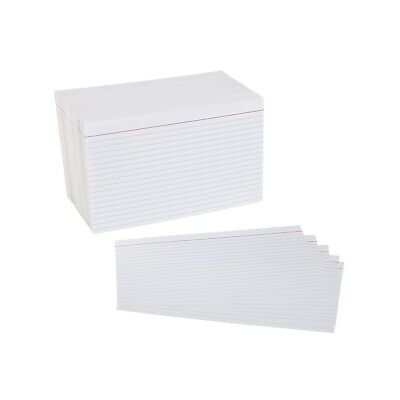 Staples 5 X 8 Line Ruled White Index Cards 500pack 51006 233478