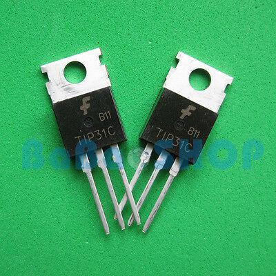 5pcs 200pcs Tip31c Tip32c Tip31 Tip32 Npn Pnp Transistor 3a 100v Fsc To-220