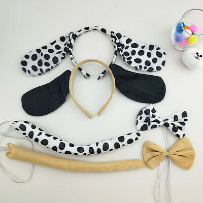 Funny Dog Ears Headband Set Animal Dress Costume Kit With Tie Tail For Kids](Dog Costumes For Children)