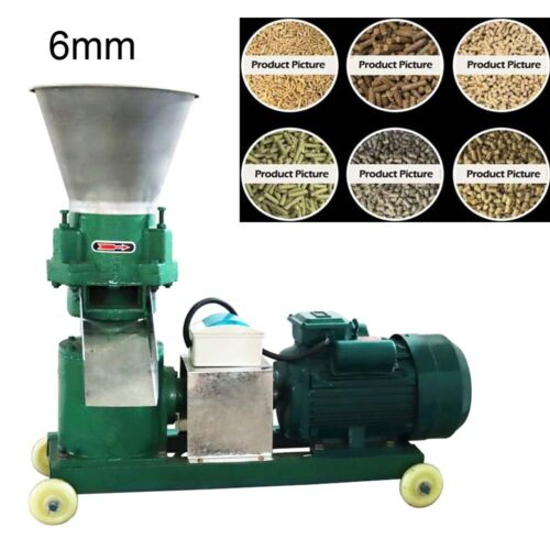 220V High Power Anilmal Feed Pellet Mill Machine 6mm Partical Size Sheep Horse