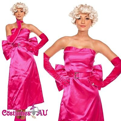 Ladies 1950s 50s Costume Hollywood Star Womens Fancy Dress Party 50's outfit ()