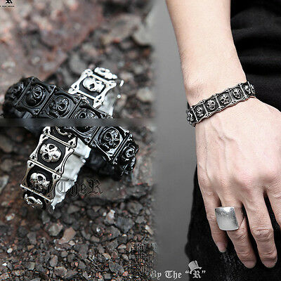 ByTheR Skull Metal Bracelet Stylish Unique Trendy Edgy P0000EGX