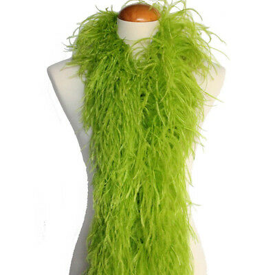 Lime Green Feather Boa (Lime Green 4ply Ostrich Feather Boa Scarf Prom Halloween Costumes Dance)