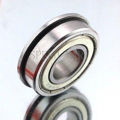 Fr8zz Mr8 12 X 1-18 X 516 Metal Shielded Flanged Ball Bearings