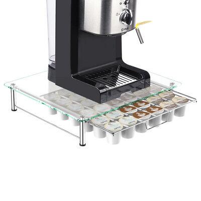 - 36 K Cup Glass Table  Holder Rack Storage fits Coffee Pod  Drawer Organizer