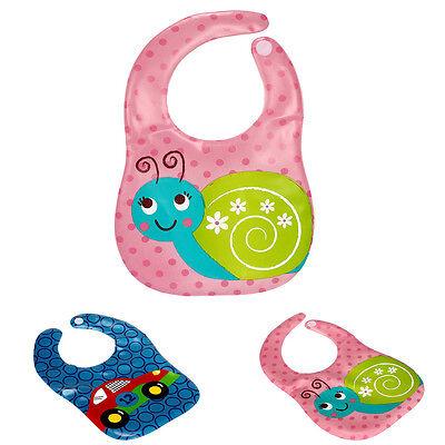 Baby Bibs Kids Cute Cartoon Pattern Waterproof Bibs Translucent Plastic Soft EVA
