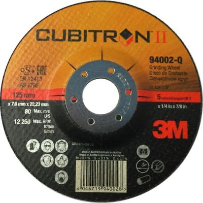 3M Cubitron II Disco de Molienda Gene, 2 125x7x22 Duro, Para Acero...