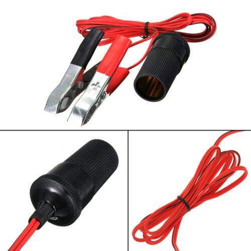 Fuse 12V Battery Alligator Clip-on Car Cigaret Lighter Female Adapter Socket