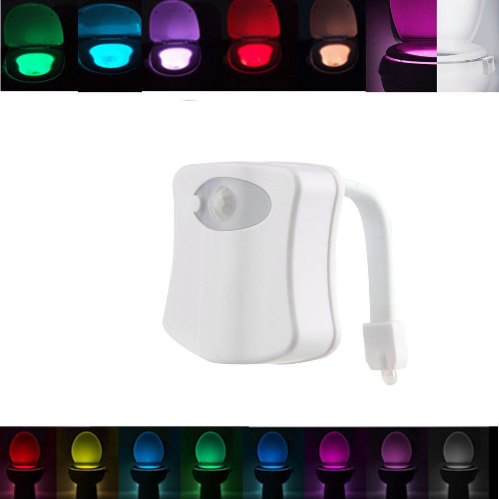 led wc toilette licht motion activated seat sensor nachtlicht badezimmer lampe eur 4 89. Black Bedroom Furniture Sets. Home Design Ideas