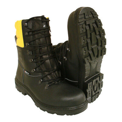 Chainsaw Forestry Boots Black And Yellow Aborist COFRA Class 1 Size 6.5 Euro 40