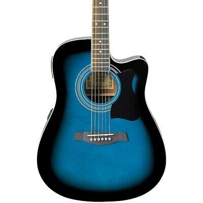 Ibanez V70CE Acoustic-Electric Guitar Transparent Blue