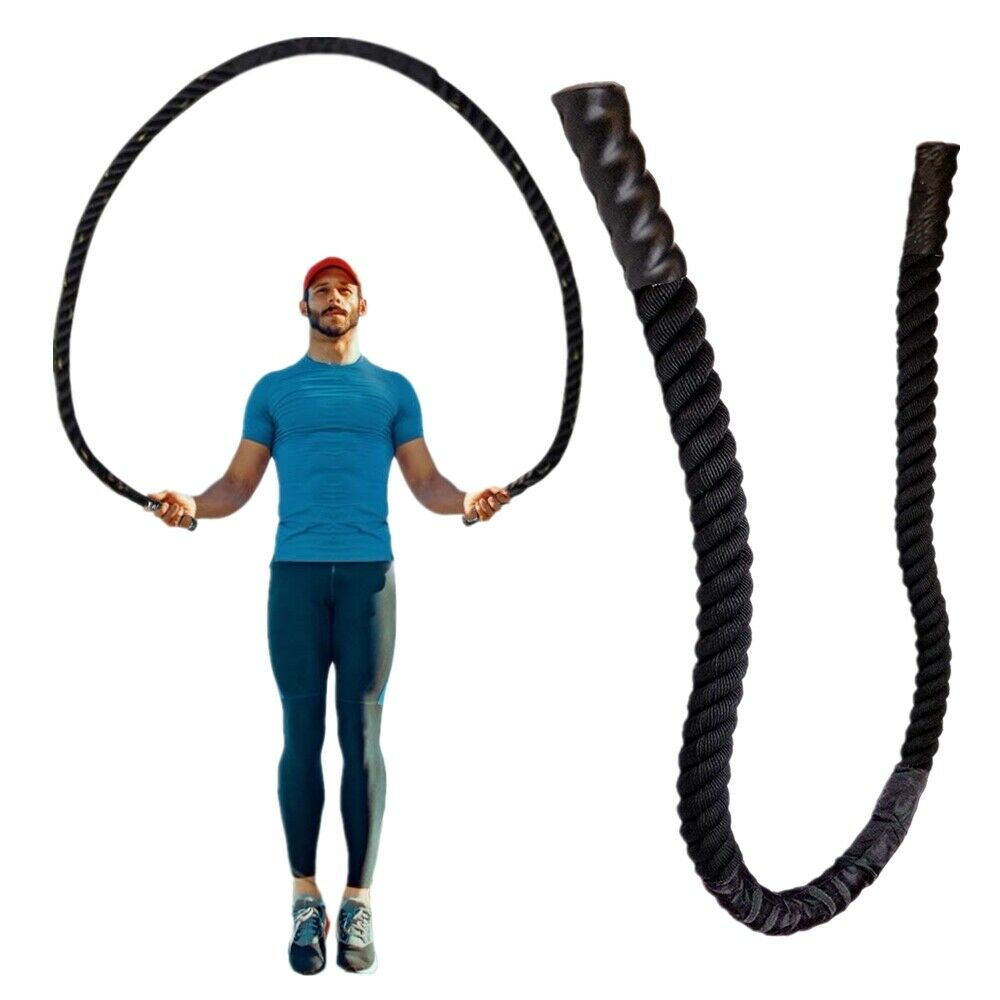 NEW 9.8ft Fitness Heavy Jump Rope Crossfit Weighted Battle Skipping Ropes