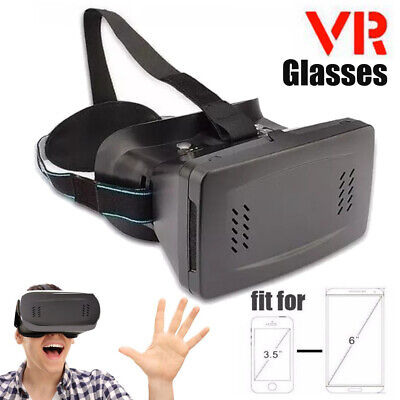 Cardboard VR Headset 3D BOX Virtual Reality Glasses For Cell Phone 3.5-6 inch