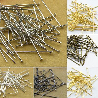 Wholesale Head Pins,Eye Pins,Silver Golden Bronze,16-70mm Jewelry Making R3001 (Gold Flatware Wholesale)