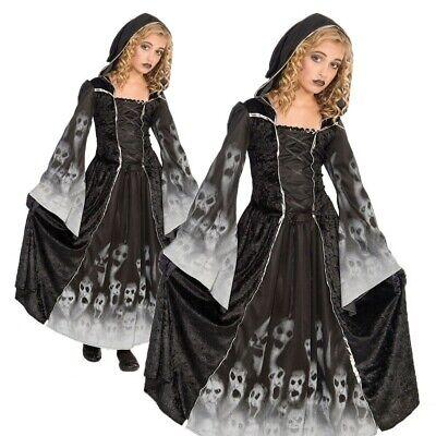 Mädchen Geist Vergessene Seelen Kostüm Skelett Corpse Bride Kostüm - Kind Corpse Bride Kostüm
